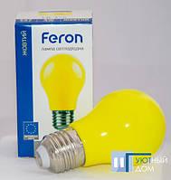 Світлодіодна лампа LB-375 A50 3W E27 жовта