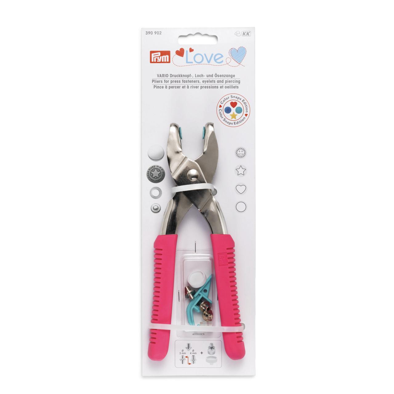 Щипцы Prym Love 390902 Vario с насадками для пробивания отверстий (розовые)
