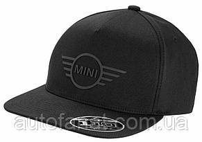 Оригинальная бейсболка MINI Cap Wing Logo Flat Peak Black (80162445655)