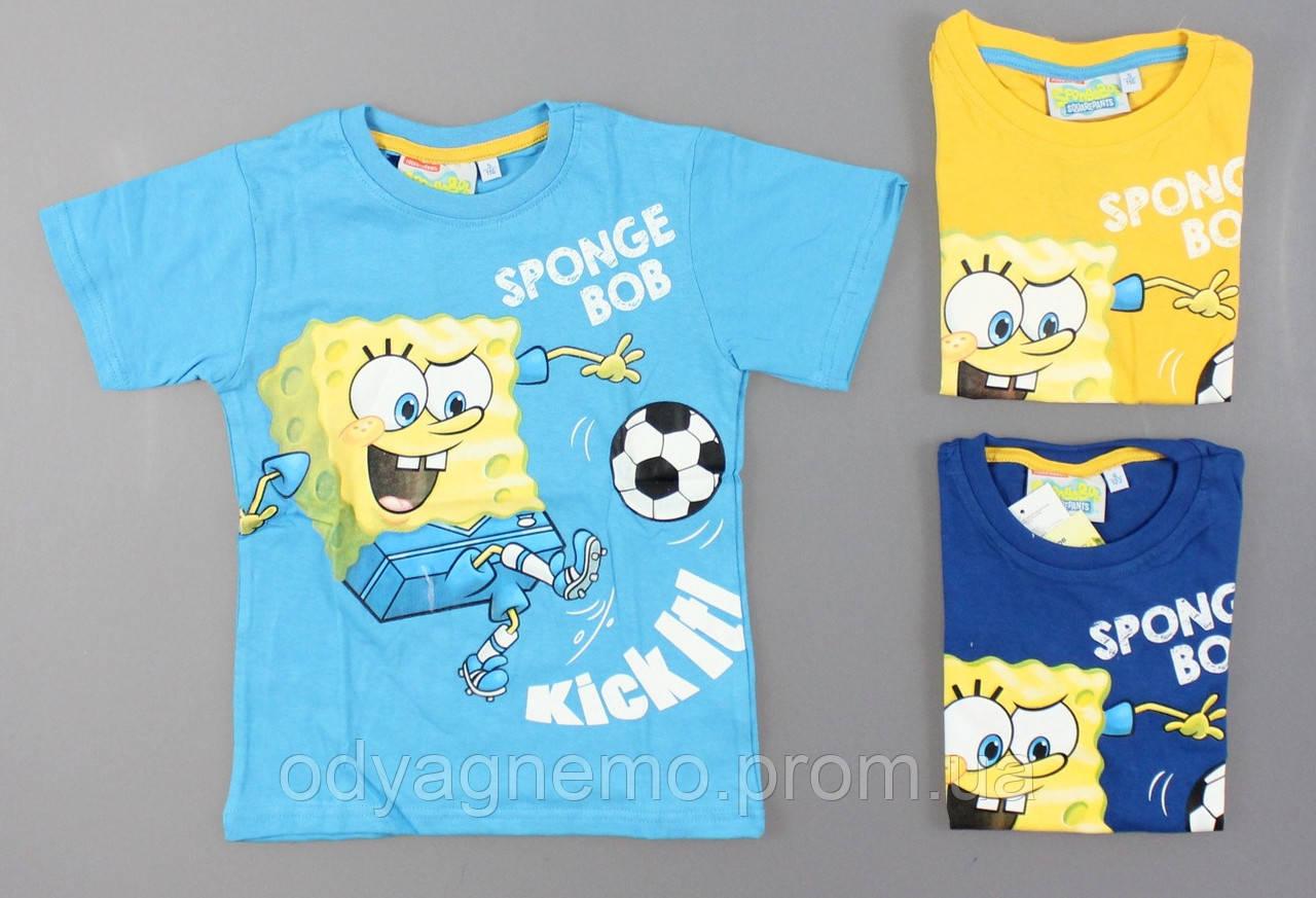 Футболка для мальчиков Sponge Bob оптом , 98/104-122 pp.