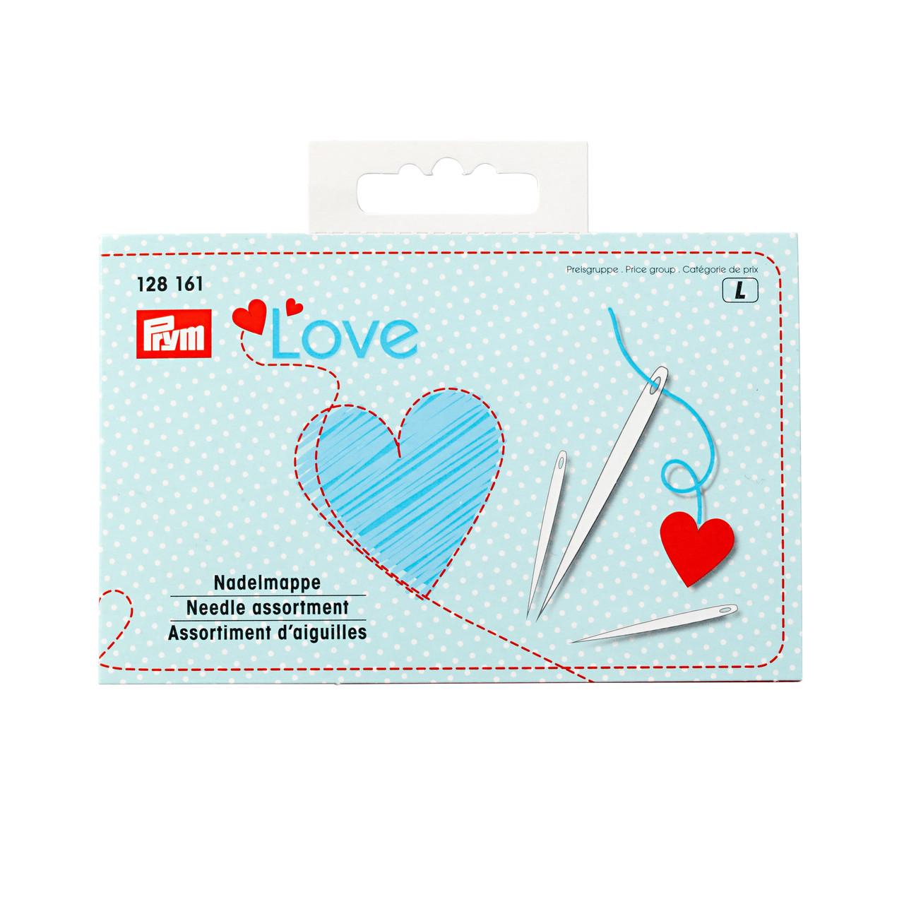 Набор 29 швейных игл и игл для штопки с вдевателем Prym Love 128161