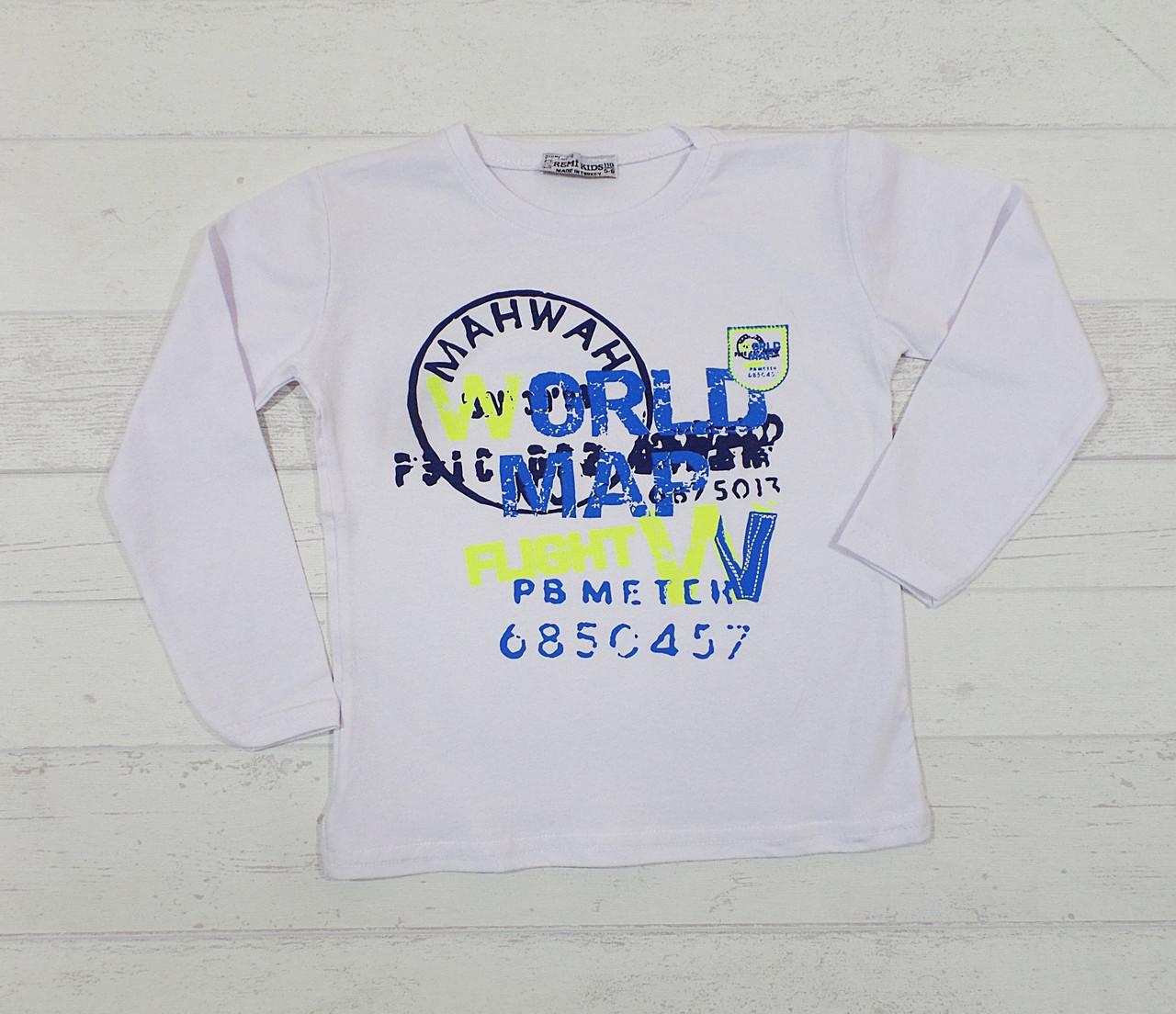 Детская футболка для мальчика 1-2, 3-4, 4-5, 5-6 лет, кулир