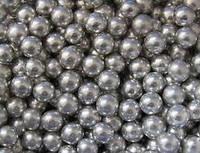 Посыпка сахарная для кондитерских изделий Бусинки серебряные, 7 мм, 10 г