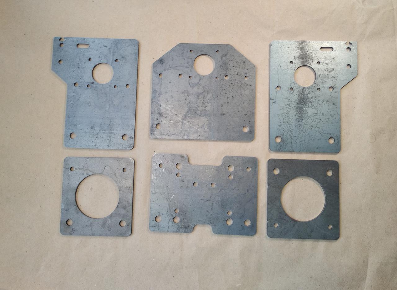 Комплект пластин для профілю 20x40 V-slot, сталь, версія 2