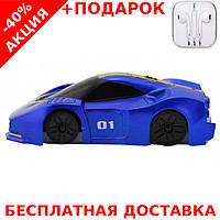 Антигравитационная машинка едет по стенам и потолку Blue Wall Racer CLIMBER WALL + наушники iPhone 3.5