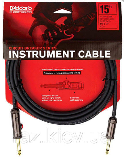 PLANET WAVES PW-AGL-15 Curcuit Breaker Latching Switch 15ft Инструментальный кабель
