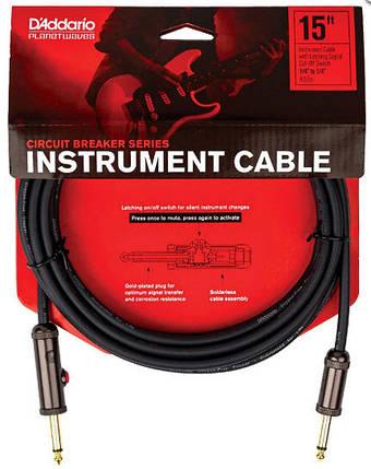 PLANET WAVES PW-AGL-15 Curcuit Breaker Latching Switch 15ft Инструментальный кабель, фото 2