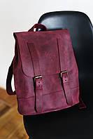 Рюкзак натуральная кожа Boorbon 507 ручная работа серый рюкзак большой рюкзак для поездок изделие из кожи