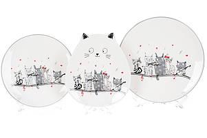 Тарелка керамическая фигурная с объемным рисунком Ночная серенада, 20см, DM531-M, фото 2