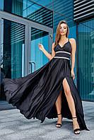Вечернее длинное черное платье