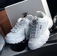 5130efeb Fila Disruptor 2 White | кроссовки женские; кожаные; белые