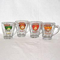 Набор чашек СемьЯ - папина, мамина, дочки, сына - 4 шт по 250 мл