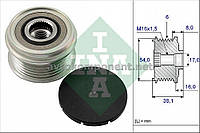 Механизм свободного хода генератора OPEL, FIAT (производство Ina) (арт. 535 0063 10), ADHZX