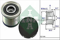 Механизм свободного хода генератора OPEL,RENAULT (производство Ina) (арт. 535 0030 10), AEHZX