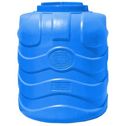 Бесплатная доставка. Емкость, бак, бочка 500 литров пищевая трехслойная вертикальная RVТ, фото 2