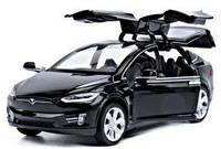 Коллекционная машинка Tesla Тесла Model X Черная