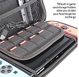 Чехол кейс под Carbon для Nintendo Switch с ручкой / Есть стекла /, фото 8