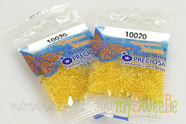 """Бисер 10020 (№ 110) PRECIOSA (Чехия) 5 гр. фасовка """"Чарівна Мить"""""""