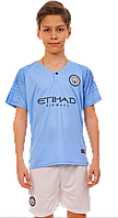 Форма футбольная детская Manchester City (XS,S,M,L,XL) 2019 домашняя , фото 1