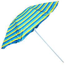 Пляжний зонтик -смужки, 1,8 м в діаметрі, з нахилом, MH-0036