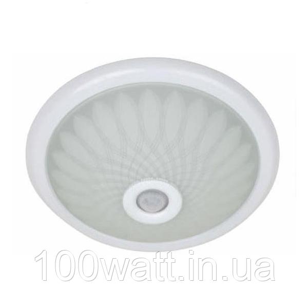 Светильник потолочный с датчиком движения 360 градусов 2х25w (2 патрона Е27)