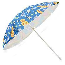Пляжний зонтик - морська тематика, 1,8 м в діаметрі, з нахилом, MH-0035