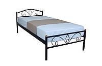 Односпальная кровать металлическая Лара Люкс Melbi. Ліжко односпальне металеве