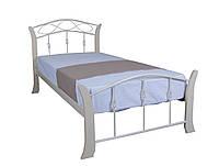 Кровать односпальная металлическая с деревом Летиция Вуд Melbi. Ліжко односпальне металеве