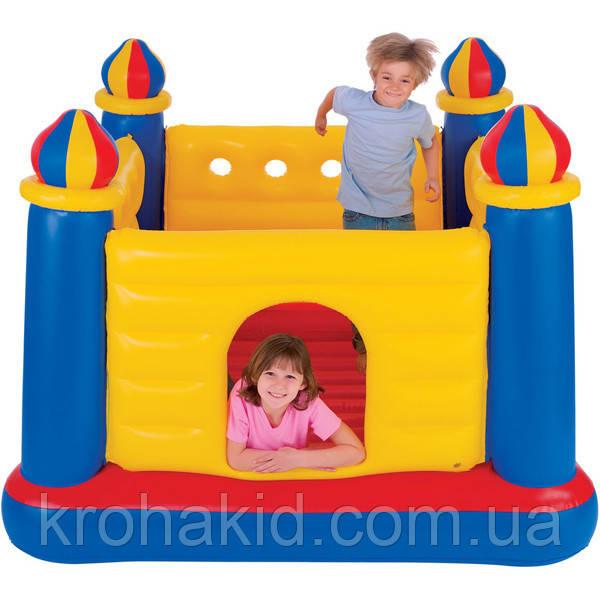Детский надувной батут Замок Intex 48259, надувной центр 175х175х135 см