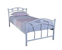 Односпальная детская кровать для девочки Принцесса Melbi. Ліжко односпальне металеве 190х80, белая