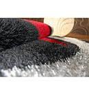 Ковер SHAGGY VERONA 133x190 см B058 черный/красный, фото 5