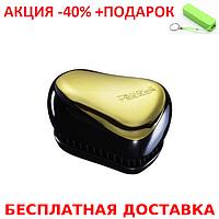 Tangle Teezer Compact Styler Gold Тангл тизер компакт стайлер расчёска для волос мини+Power Bank, фото 1