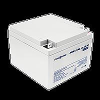 Аккумулятор мультигелевый AGM LogicPower LP-MG 12 - 26 AH SILVER