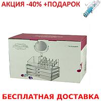Органайзер для хранения косметики с зеркалом JN-870 Beauty box Conventional case+Монопод, фото 1