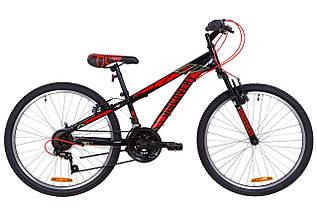 """Велосипед 24"""" Discovery RIDER AM 14G Vbr St 2019 (черно-красный)"""