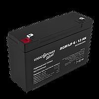 Аккумулятор AGM LogicPower LP 6-12 AH SILVER, фото 1