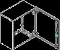 Шафа електромонтажна Claved ARKO-105 IP55 1000х500х300, фото 2