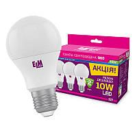 Лампа светодиодная ELM Led 10W  E27 4000 Набор 3 шт.