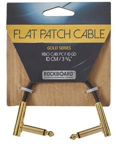ROCKBOARD RBOCABPC F10 GD GOLD Series Flat Patch Cable Інструментальний кабель