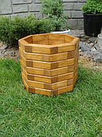 Кашпо, кадка, вазон деревянный для растений и деревьев (8 граней)