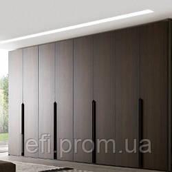 Шкафы с распашными фасадами МДФ шпонированный на фурнитуре Linken System или GTV