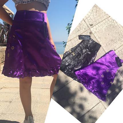 """Нарядная детская юбка """"Лаке"""" с оборкой (2 цвета), фото 2"""