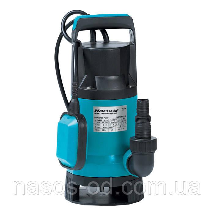 Дренажный насос Насосы+Оборудование DSP 750PD садовый для колодца 0.75кВт Hmax9м Qmax242л/мин