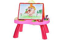 Детский стол для рисования розовый Same Toy My Art centre (8806Ut)