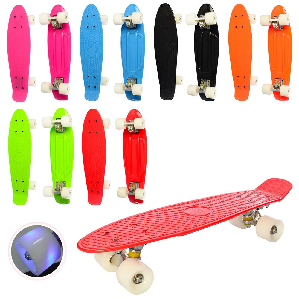 Скейт Пенни Борд со светящимися колесами 22 дюйма