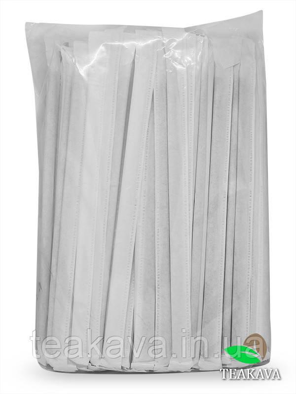 Трубочка черная в индивидуальной упаковке, d5, 21 см, 100 шт