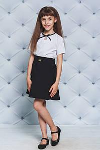 Юбка школьная с воланом черная