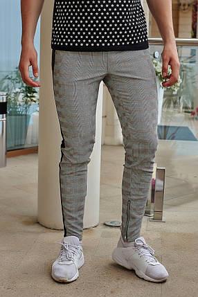 """Мужские зауженные спортивные брюки """"Oscar"""" с лампасами, фото 2"""