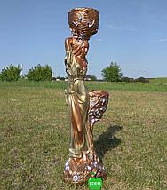 Кашпо цветное статуя Таня оливковое платье, фото 3