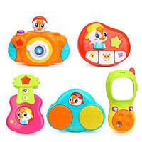 Комплект подвесных музыкальных игрушек для кроватки и коляски 5 шт. Huile Toys 3111